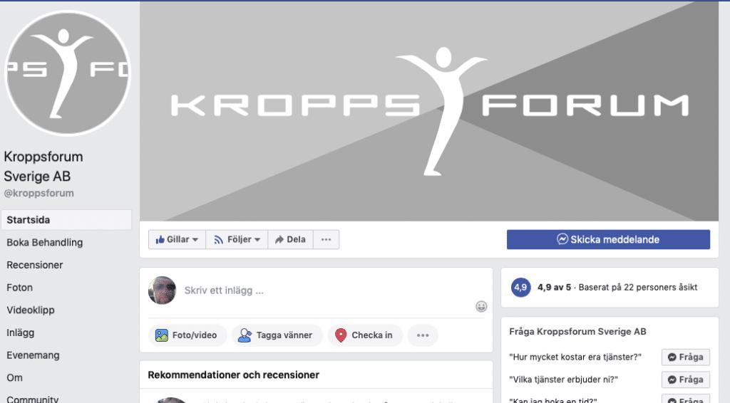 Facebook Kroppsforum
